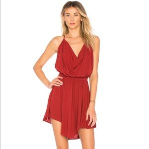 Indah Tahani cocktail dress in berry